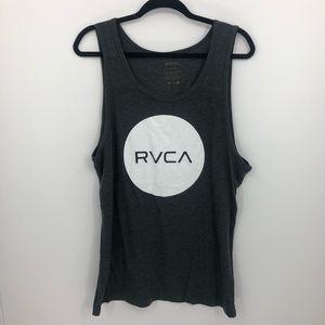 RVCA Charcoal Gray Tank Top Men's Large